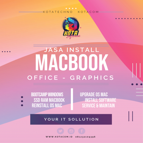 Jasa Install Software Macbook – Windows